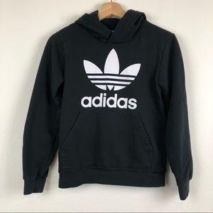 ADIDAS Trefoil Black Pullover Hoodie Sweater M